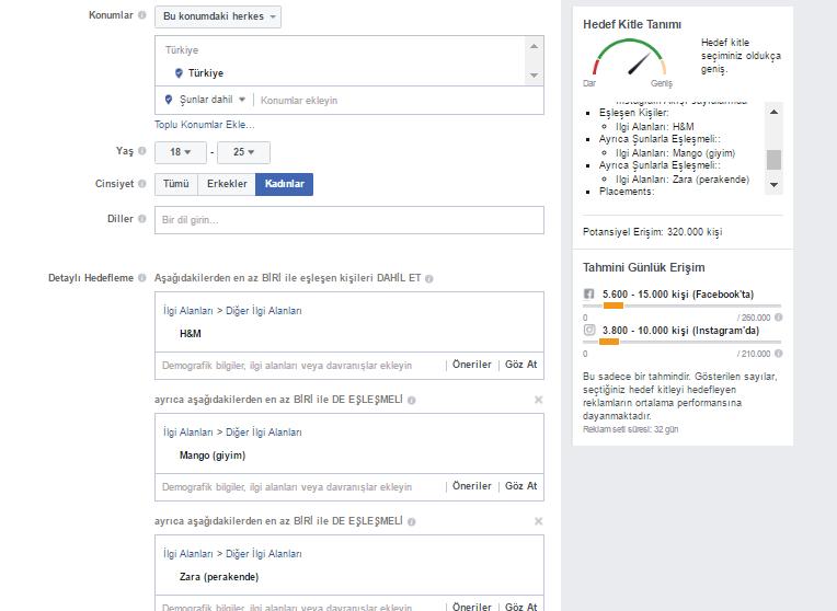 Facebook Reklamlarında Doğru Hedef Kitle Seçimi