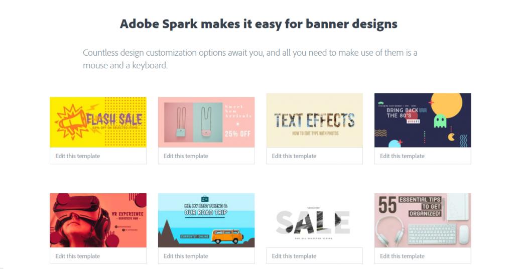 Ücretsiz Banner Hazırlama - Adobe Spark